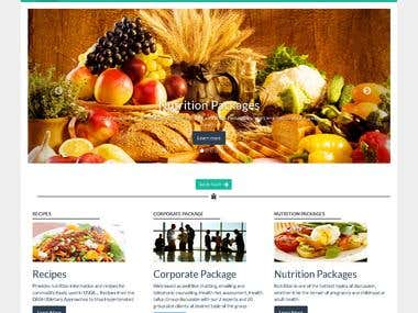Website for a Nutritionist