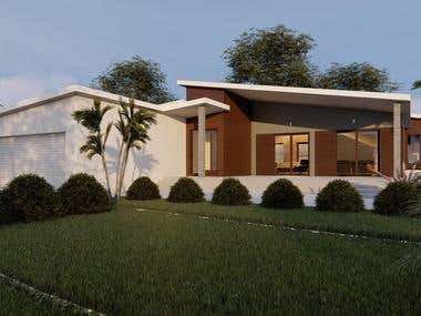 Conceptual architectural design for family house