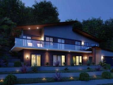 Conceptual architectural design for family house 2018 y