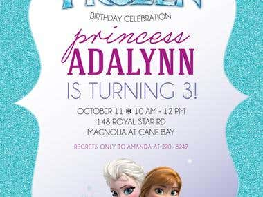 "Personalized ""Frozen Invitation"""