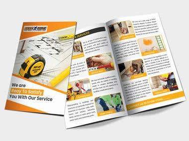Service Based Bi-Folded Brochure