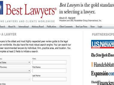 Bestlaywers.com, a lawyer review website I have worked on