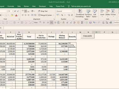 Audit (Data entry, Sum, Link)
