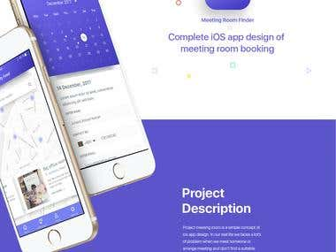 Meeting Room Finder Application- designs