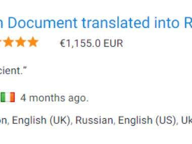 English to Russian and Lithuania