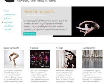 Theatre of dance website layout