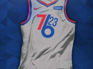 76ers Alternative Jersey Concept