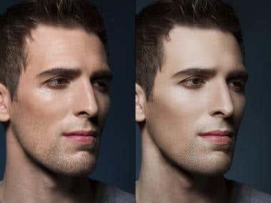 Men - retouching