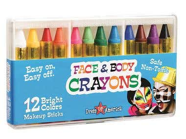 Dress Up America 12 Color Face Paint Safe & Non-Toxic