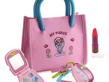 Little Girl's My First Purse Pretend Play Kid Purse Set