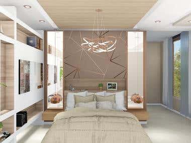 Interior Design of Master Bedroom in Saudi Arabia
