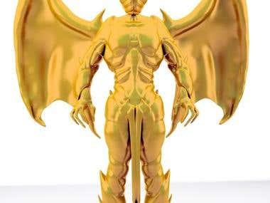 monster golden statue