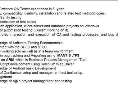 For Software , WEb and Mobile Testing