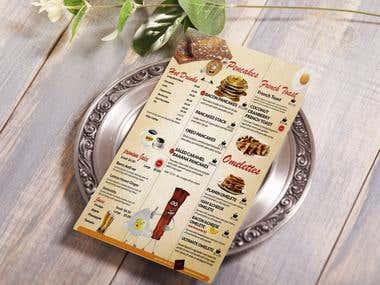 retaurent menu card