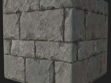 Old Stone Wall Material