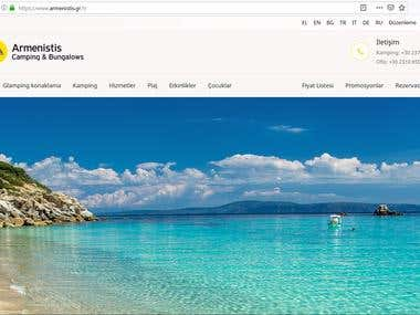 Armenistis Camping Website Localization