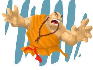 crazy monk