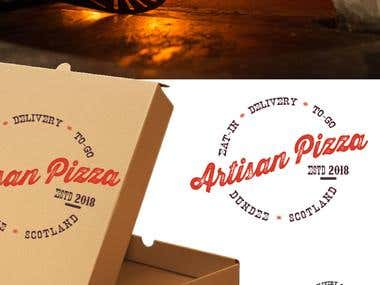 Logo and branding for Artisan Pizza