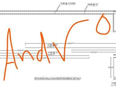 Work Shop Drawings of Retaining wall Reinforcement Details