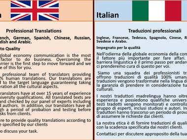 English/Italian
