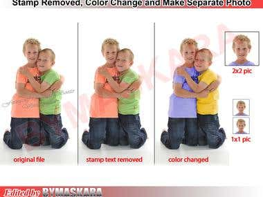 Watermark Removed and Photo Manipulation