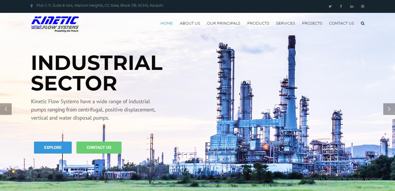 Kinetic Flow Systems (Wordpress Website Project)