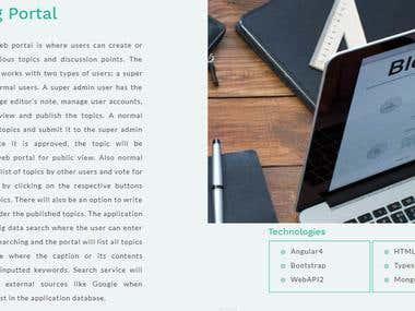 Blogger platform