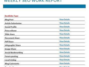 Off Page SEO Work Report