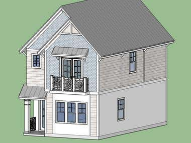 Sketchup 3d house