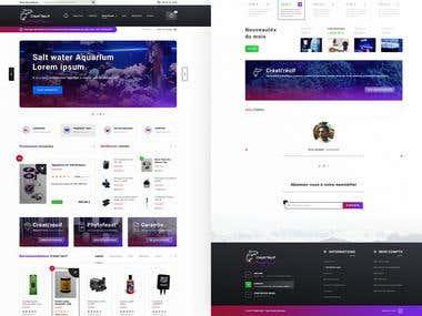 Créati'Récif. Homepage Web UI-UX