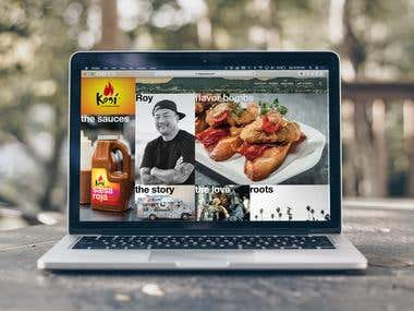 Website for the product company