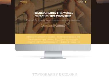 Website development for the volunteer organization