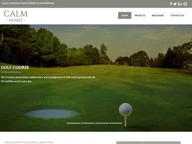 Website of real estate retailer