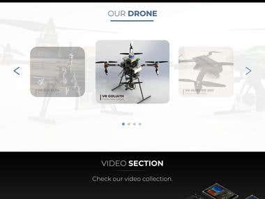 Website Prototype for a Drone company
