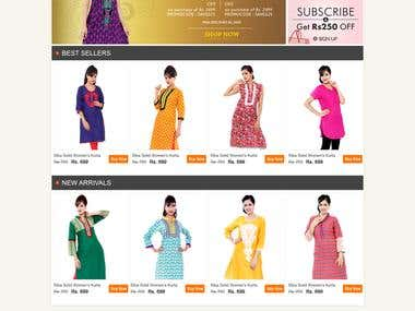 Online Shopping Website Layout