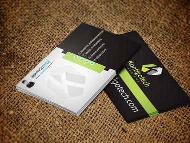 IT Solution Modern Business CARD Design