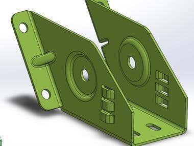 Solidworks sheet metal modelling
