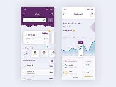 Wallet & Dashboard. IOS App #Freebies