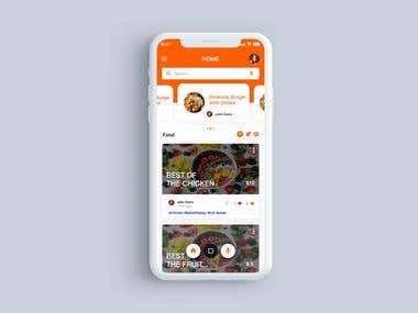 Home page for food App