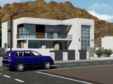 3D FLY THROUGH OF A VILLA AT MOUNTAIN AREA IN OMAN(BAHLA)