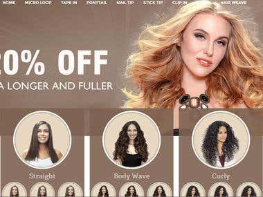 HairOh Website Screenshot