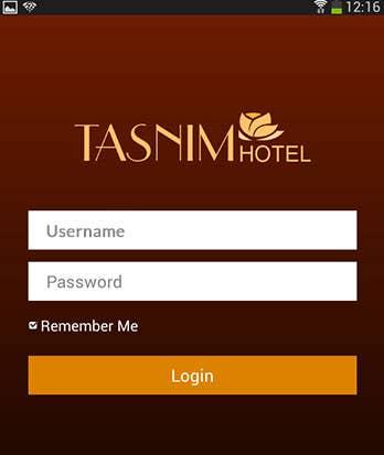 Tasnim Hotel app (Android app)