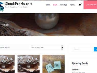 Shuck Pearls Website Screenshot