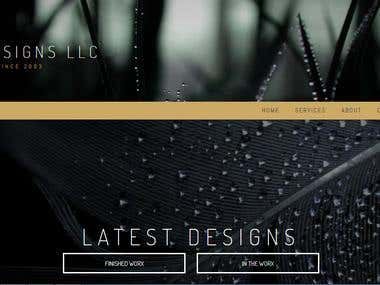 SW Designs Website Screenshot