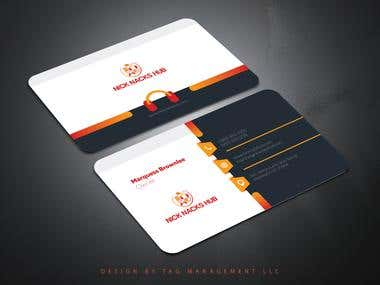 Creative Business Card Design - TAG Management LLC