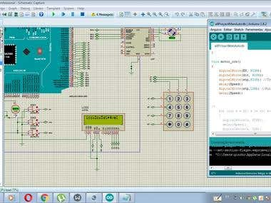 Velocity control of a bifasic stepper motor using arduino