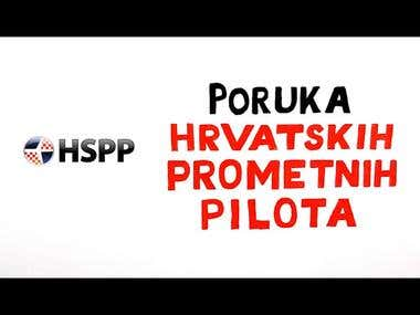 A message from Croatian's airline pilots