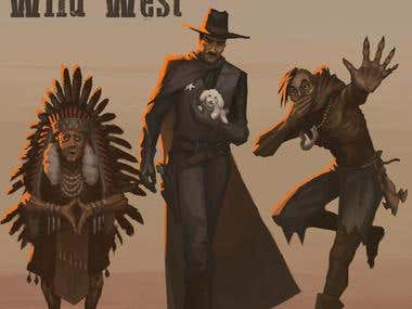 Wild west character concepts