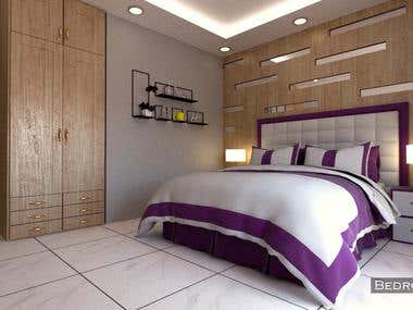 Complete Interior design & Visualization for 1-BHK House.