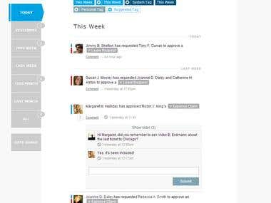 Interface for Web App - Legal / Social